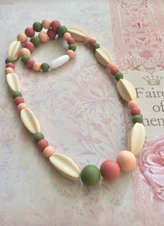 Adult or Child Chew Bead Necklace by Lollilovebaby on Etsy