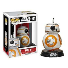Move over, R2. Here's the newest and cutest droid in the Star Wars Galaxy. ?˜Enjoy this Pop Star Wars vinyl figure of BB-8 from The Force Awakens. - Includes a decorative Star Wars stand - 3.75 inches