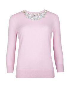 Silk cashmere mix sweater - Baby Pink | Sweaters | Ted Baker