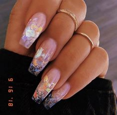 In seek out some nail designs and some ideas for your nails? Here's our list of must-try coffin acrylic nails for trendy women. Summer Acrylic Nails, Best Acrylic Nails, Acrylic Nail Designs, Acrylic Nails Coffin Glitter, Clear Nail Designs, Long Nail Designs, Acrylic Nail Shapes, Coffin Nail Designs, Colored Acrylic Nails