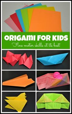 Origami for kids and its benefits. Fantastic fine motor exercise.
