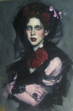Malcolm Liepke | Lady in Red Carnation | Telluride Gallery