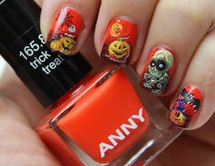 Halloween Nail Art Stickers Nail Water Decals Transfers Ghosts Spiders Pumpkins | eBay