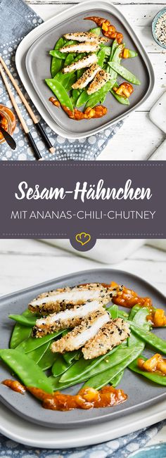 Hähnchen in Sesamkruste mit Ananas-Sweet-Chili-Chutney [Display] Your Crunchy Chicken Requires Sweet Chili Chutney [In Cooperation with Maggi] Clean Eating Pancakes, Clean Eating Soup, Clean Eating Recipes, Budget Freezer Meals, Frugal Meals, Budget Meal Planning, Cooking On A Budget, Brunch Recipes, Healthy Dinner Recipes