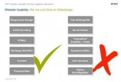 Webdesign: Die Ins und Outs der Usability