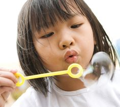"""Love, Love this for prayer to teach preschoolers!  All you'll need is bubble solution and a bubble wand for each child. Say the prayer as kids follow your lead in blowing bubbles.    Lord, I'm blowing my bubbles up to you (blow bubbles); I'm blowing my troubles up to you (blow bubbles).  Just like when the bubbles go, """"POP!""""  You can help troubles disappear and stop. Lord, I'm blowing my bubbles up to you (blow bubbles); I'm blowing my troubles up to you (blow bubbles).  Amen."""