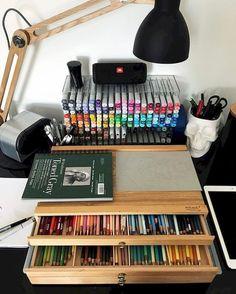 Art storage, art supplies storage, art studio organization, organization id Art Studio Room, Art Studio Design, Art Studio At Home, Art Studio Decor, Studio 60, Art Studio Spaces, Design Art, Home Art Studios, Studios D'art