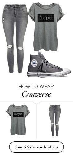 """""""Untitled #475"""" by elizabethduff on Polyvore featuring Topshop and Converse"""