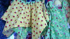 Handkerchief style skirt n reversible dress