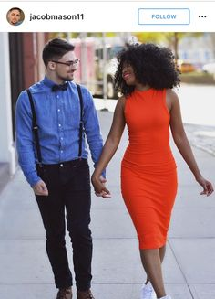 Gorgeous interracial couple walking hand-in-hand Couple Style, Mixed Couples, Couples In Love, Black Woman White Man, Black Love, Beautiful Love, Beautiful Couple, Photos D'engagement, Pictures