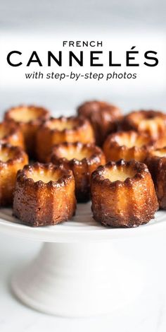 Cannelés with step-by-step photos #canneles #canele #cannelesbordelais #rachelkhoo Homemade Desserts, Köstliche Desserts, Delicious Desserts, Yummy Food, Plated Desserts, Rachel Khoo, Baking Recipes, Cookie Recipes, Gastronomia