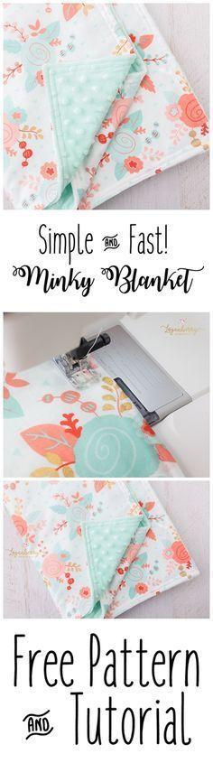 Minky Baby Blanket Pattern + Free Sewing Pattern, How to Sew Minky Blanket, Minky Blanket Tutorial, Easy Baby Blanket, DIY. Baby Blanket Tutorial, Free Baby Blanket Patterns, Easy Baby Blanket, Minky Baby Blanket, Sewing Patterns Free, Free Pattern, Knitting Patterns, Pattern Sewing, Blanket Crochet