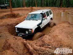 XJ in mud