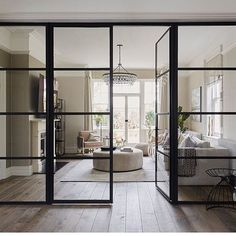 10 Beautiful Rooms Internal crittall windows look fantastic with wood flooring. Two key looks that will bring your home up-to-date Wood Flooring Uk, Engineered Wood Floors, Crittal Doors, Crittall Windows, Sliding Windows, Windows 10, Sliding Doors, Interior Door, Interior Design