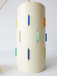 LAMPE SUSPENSION CYLINDRE ROTAFLEX HEIFETZ 1950 1960 VINTAGE ATOMIC ERA 50S LAMP