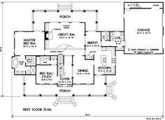 Plan of the Week: The Hollyhock #864 | Hollyhock, House and Interior ...