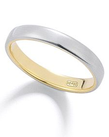 Wedding Bands for the Groom - Martha Stewart Weddings Fashion & Beauty -- I like the platinum & gold or just the simple thin gold band for Will.