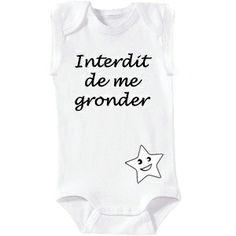 Body blanc pour bébé de 3 à 6 mois à personnaliser. Idéal pour un cadeau de naissance. #Body #Bébé