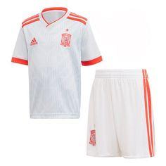 CONJUNTO SEGUNDA CAMISETA ESPAÑA NIÑO 2018 Camisetas De Futbol Camiseta  España b2b3307a920b9