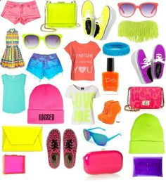 Neon summer stuff! by get-the-looks  liked on Polyvore