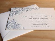 Antiquity invitation from Parklife Press