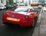 Photo of UK registration number plate 1FTF / 1 FTF: Ferrari 599 GTB Fiorano http://platewave.com