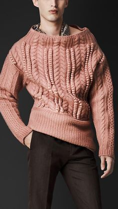 Oversize Aran Knit Sweater | Burberry