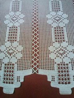 Filet Crochet, Crochet Stitches, Crochet Patterns, Crochet Curtains, Crochet Tablecloth, Needlework, Diy And Crafts, Quilts, Embroidery