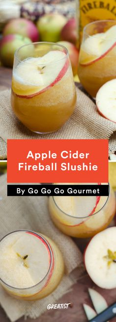 5. Apple Cider Fireball Slushies #cocktail #recipes http://greatist.com/eat/summer-cocktails-that-are-not-crazy-unhealthy