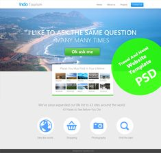 Beautiful Travel and Hotel Website Template PSD for Free Download - cssauthor.com
