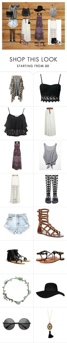 """""""Boho-Chic"""" by emerzm ❤ liked on Polyvore featuring Club L, Miss Selfridge, Free People, Jens Pirate Booty, Stuart Weitzman, Tory Burch, Loeffler Randall, Coach, Wet Seal and Topshop"""