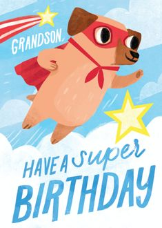 Cool Birthday Cards, Birthday Bag, Vintage Birthday Cards, Birthday Images, Happy Birthday Wishes, Birthday Greeting Cards, Birthday Greetings, Illustration Inspiration, Dog Illustration
