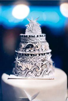 Nautical-Themed Wedding Cake with Waves | Wedding Cake