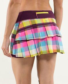 lululemon Pace-Setter Running Skirt | sea check multi/plum