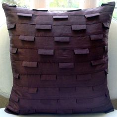 Decorative Throw Pillow Covers Couch Pillow Case Sofa Pillows Bed Pillow 16x16 Inch Purple Silk Pillow Cover Home Living Decor Plum Ocean