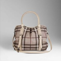 Burberry Smoked Check Tote Bag Smoked Trench