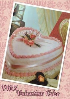 The second in the Vintage Valentine's baking series is this delicious cake from Marguerite Patten's 'Cake Icing & Decorating' book dati. Valentines Baking, Valentine Cake, Vintage Valentines, Recipe Books, Cake Icing, Vintage Recipes, Yummy Cakes, Vintage Kitchen, Cake Recipes