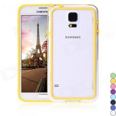Color: Transparent + Yellow; Brand: N/A; Model: N/A; Material: Plastic; Quantity: 1 Piece; Shade Of Color: Yellow; Compatible Models: Samsung Galaxy S5; Other Features: Light weight, slim, and perfectly fits for your beloved Galaxy S5. Protects your Galaxy S5 from bumps and scratches with this bumper frame. Easy to install and remove; Packing List: 1 x Case; http://j.mp/1peQZ3V