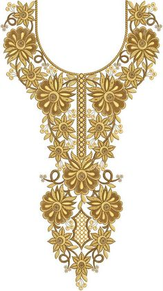 Latest Neck Designs for Kurtis / Dress / Suit / Men's Neck Download Embroidery Design File in .EMB Format. Border Embroidery Designs, Kurti Embroidery Design, Cutwork Embroidery, Embroidery Works, Embroidery Dress, Machine Embroidery Patterns, Embroidery On Kurtis, Embroidery On Clothes, Neckline Designs