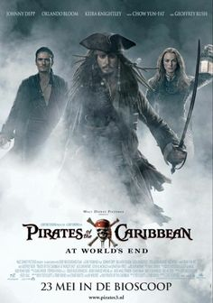 pirates of the Caribbean (Potc).... At world's end.. Movie poster...
