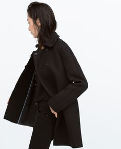 Image 3 of COAT WITH BIG BUTTONS from Zara
