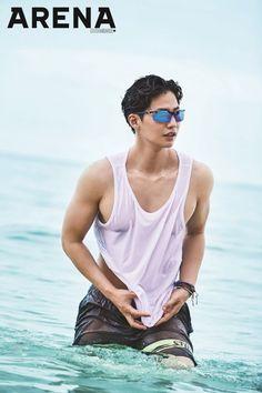 Song Jae Rim has fun in Bali for 'Arena Homme Plus' | allkpop.com