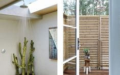 Browse Outdoor Shower Design Ideas For Swimming Pools Areas. Click and take a look at all outdoor shower ideas at The Architecture Designs. Pool Area, Elle Decor, House Design, Room Divider, Shower Design, Areas, Home Decor, Outdoor Shower, Swimming Pools