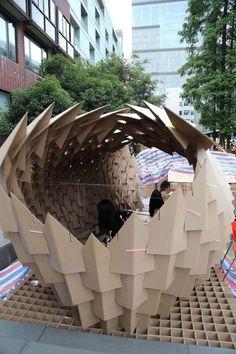 Parametric Architecture, Paper Architecture, Pavilion Architecture, Parametric Design, Education Architecture, Modern Architecture, Module Design, 3d Design, Surrealism Sculpture