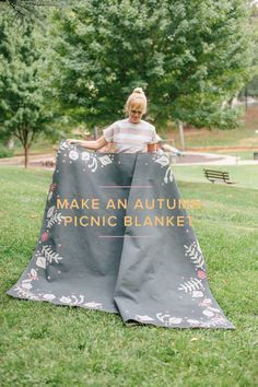 Let's have a picnic before it gets too cold! Check out the blog to learn how to make a blanket for your picnic!