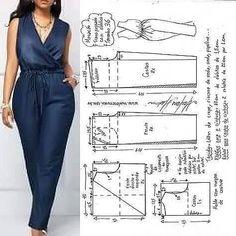 Jumpsuit Pattern, Pants Pattern, Circle Skirt Pattern, Blazer Pattern, Pattern Dress, Sewing Aprons, Sewing Clothes, Skirt Sewing, Barbie Clothes