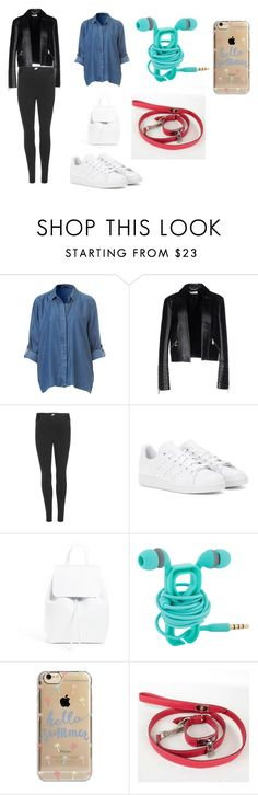 """""""Rainy day"""" by lia-hedges on Polyvore featuring Versace, NIKE, adidas, Mansur Gavriel, Agent 18 and Hermès"""