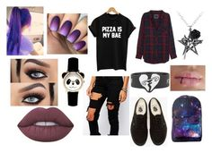 """""""Untitled #25"""" by joana-krus-nske ❤ liked on Polyvore featuring Rails, Liquor n Poker, Vans and Lime Crime"""