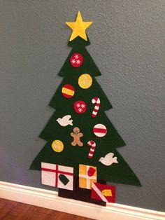 Felt Christmas Tree Holiday gift for toddlers Kids Felt Christmas Trees For Kids, Christmas Is Over, Toddler Christmas, Felt Christmas, Christmas Crafts, Christmas Decorations, Christmas Ornaments, Merry Christmas, Xmas