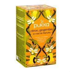 Pukka, INFUSION CITRON GINGEMBRE ET MIEL DE MANUKA